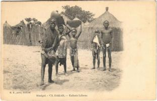 Dakar, Enfants Lébous / African folklore (non PC) (EK)