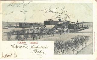 1902 Turnov, Kasárna / military barracks in winter (fl)
