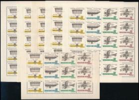 1967 Aerofila I. 5 teljes ív + 3 csíkot tartalmazó ívdarab (16.200)