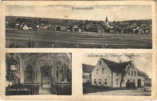 Konnersreuth, Inneres der Kirche, Geburtshaus der Therese Neumann / general view, church interior, birthplace of Therese Neumann, Catholic mystic and stigmatic (fl)