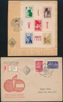 1949-1958 15 db FDC, köztük VIT blokk is, borítékban (36.000)