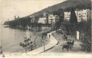 1906 Abbazia, Opatija; Hotel Bellevue und Südstrand / hotel, seashore