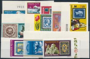 1970-1980 10 db klf ívszéli vágott bélyeg (~11.900)