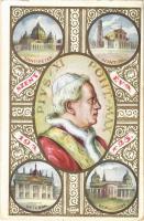 1925 Szentév, XI. Pius pápa. Hátoldalon Új Nemzedék hetilap reklámja / Pio XI / Pope Pius XI, Anno Santo 1925, Jubilee s: Tábor (gyűrődés / crease)