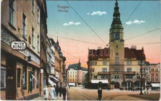 Opava, Troppau; Oberring, Zum Kino, Cafe / cinema, street, cafe