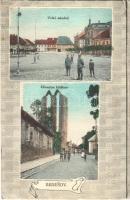 Benesov, Beneschau; Velké námesti, Zrícenina klástera / main square, ruins of the monastery. Art Nouveau (EK)