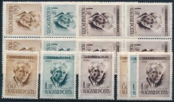 1955 Bartók Béla I. 6 db sor, köztük négyestömbök is (12.000)