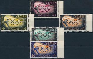 1960 Nyári olimpia ívszéli sor Mi 200-204