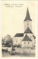 Vitoraz, Weitra; Stadtpfarrplatz, Volksschule / square, school