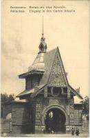 Astrakhan, Astrachan; Eingang in den Garten Arkadia / park entrance