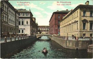 1908 Saint Petersburg, St. Petersbourg, Leningrad, Petrograd; Petit canal dHiver / canal