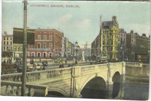 Dublin, OConnell Bridge, Kinahan & Co. Ltd., autobus (crease)