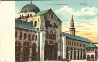 1912 Damascus, Damas; Cour de la Grande Mosquée / mosque (EB)