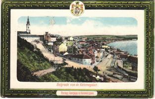 1911 Beograd, Belgrade; vue de Kalemegdan / general view, Serbian coat of arms (Rb)