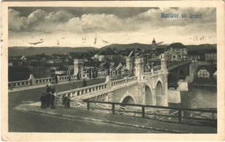 1920 Maribor, Marburg; Die neue Reichsbrücke / bridge. Felix Nowak (EK)