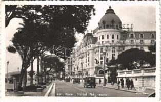 1949 Nice, Nizza; Hotel Negresco / street view, hotel, automobile