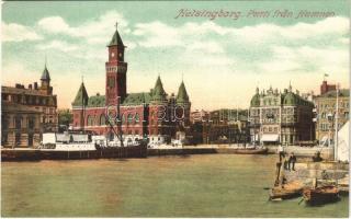 Helsingborg, Parti fran Hamnen / port, steamship
