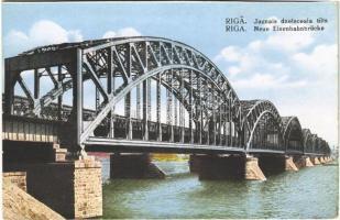 Riga, Jaunais dzelsceala tilts / Neue Eisenbahnbrücke / the new railway bridge (cut)