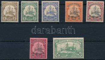 Deutsch Ostafrika német gyarmat 1901 7 érték a sorból (Mi EUR 180.-)
