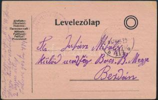 1917 Tábori posta levelezőlap TP 414 b