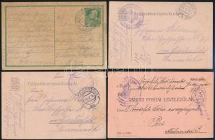 10 db régi küldemény közte 5 db I. világháborús osztrák - magyar és 4 db II. világháborús német tábori posta