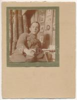 Első világháborús osztrák-magyar katona / WWI K.u.K. military, Austro-Hungarian soldier, photo (non PC)