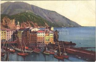 Camogli, Riviera di Levante / port, fishing boats (EM)
