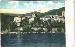 Abbazia, Opatija; Villenpartie am Nordstrand / villa
