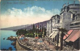 Abbazia, Opatija; Caffée Cursaal / cafe restaurant (fl)