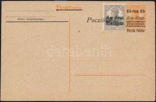 Német posta külföldön - Lengyelország 1918