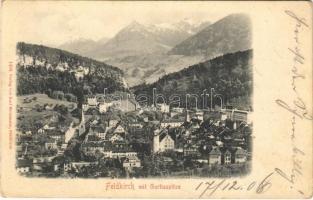 1906 Feldkirch (Vorarlberg), mit Gurtisspitze / general view with mountain peak. Verlag v. Karl Moosmann (fl)