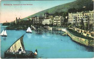 1914 Abbazia, Opatija; Südstrand, Hotel Bellevue
