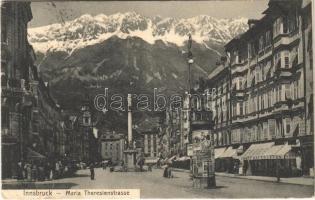 1906 Innsbruck (Tirol), Maria Theresienstrasse / street view, shops (EK)