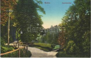 Weitra, Gabrielental / valley, road. Waldviertler-Verlag