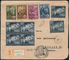 1943 Dekoratív ajánlott levél Svájcba