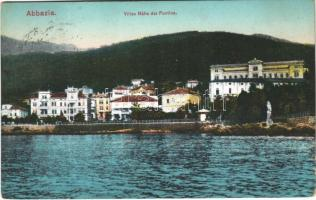 1914 Abbazia, Opatija; Villen Nähe der Puntica