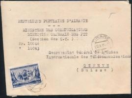Albánia 1955 Levél Svájcba