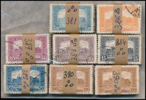 1921/1923 Parlament 8 db 100-as bündli hármas lyukasztással (56.000)