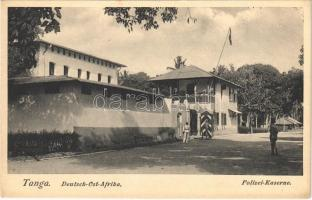 Tanga, Deutsch-Ost-Afrika, Polizei Kaserne / German East Africa, police barracks