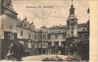 Frydlant, Friedland; Schlosshof / castle, courtyard (fl)