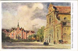 Brno, Brünn; Lazanskyplatz mit Deutschem Haus / square, German House. B.K.W.I. Serie 290/14. s: Carl Weiß