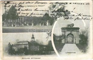 1914 Heldenberg, Der k.k. Heldenberg bei Wetzdorf (Glaubendorf), Schloss Wetzdorf, Löwentor / K.u.K. military cemetery, gate, castle. Art Nouveau, floral (fl)
