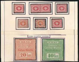 DDSG 22 db újnyomat + 3 csomagellenőrzési bélyeg