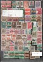 69 db bündli az 1933-1941 közötti időszakból, műanyag tálcán