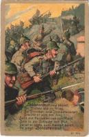 1916 Soldatenmut siegt überall... / WWI German military art postcard (EK)