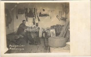 WWI Austro-Hungarian K.u.K. military, soldier in Podgorica (Montenegro) photo