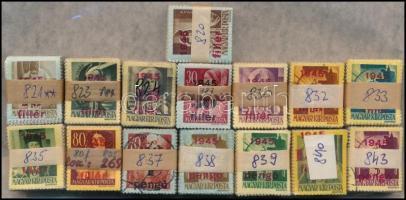1945 Kisegítő (IV.) I. kiadás 15 klf értéke 100-as bündlikben (57.000)