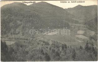 1909 Vihnye, Vihnyefürdő, Kúpele Vyhne; kilátás az Adolf-szikláról / general view