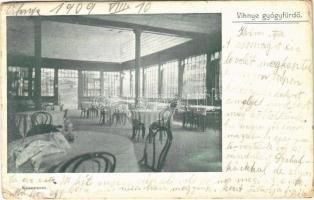 1909 Vihnye, Vihnyefürdő, Kúpele Vyhne; étterem, belső / restaurant, interior (EB)