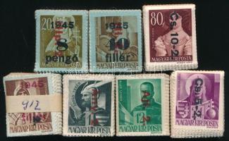 1946 Betűs II. kiadás 7 klf értéke 100-as bündlikben (23.000)